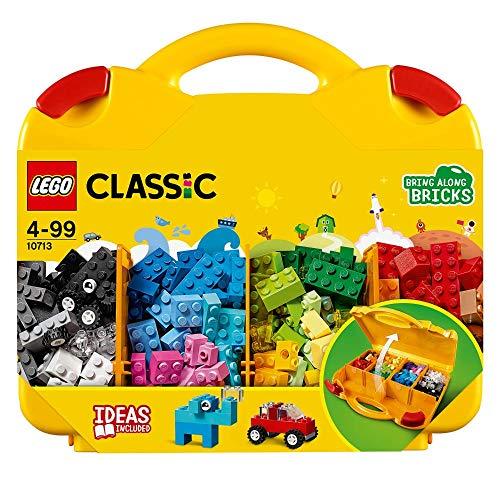 LEGO 10713 Classic Bausteine Starterkoffer - Farben sortieren, Spielzeugaufbewahrung, bunte Bausteine für...