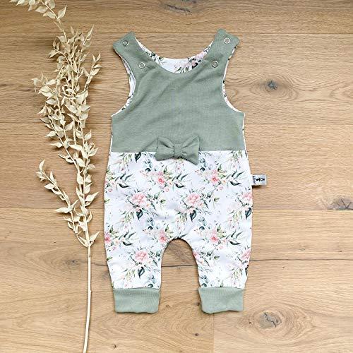 Strampler - Sommerrose (Hellkhaki) mit Schleife Baby Mädchen