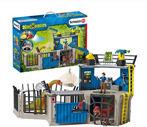 Schleich 41462 Dinosaurs Spielset - Große Dino-Forschungsstation, Spielzeug ab 5 Jahren