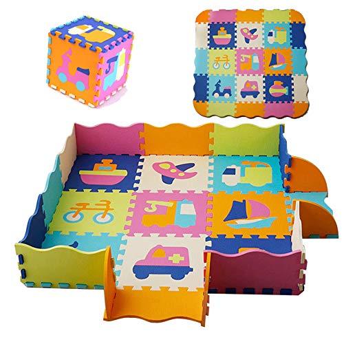 HB.YE Bunt Teppich Krabbelmatte Spielmatte Babymatte Puzzlematte Baby Schaumstoff Puzzle Matte Ab Null Kinder...