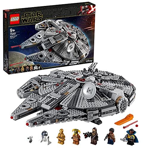 Lego 75257 Star Wars Millennium Falcon Raumschiff Bauset mit Finn, Chewbacca, Lando Calrissian, Boolio, C-3PO,...