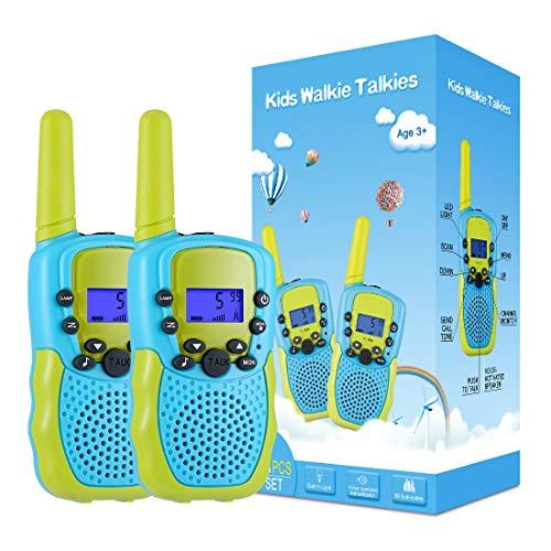 Kearui Spielzeug 3-12 Jahren Junge, Walkie Talkies für Kinder 8 Kanal Funkgerät mit Hintergrundbeleuchteter...