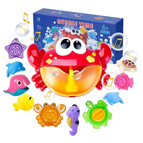 Joyjoz Badespielzeug Crab Bubble Badewannenspielzeug Kinder Stapelbecher Bubble Machine Seifenblasenmaschine...