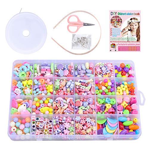 Geschenke für 4-7 jährige Mädchen, Armbandschmuck Spielzeug für 4-7 jährige Kinder Mädchen Bastelset...