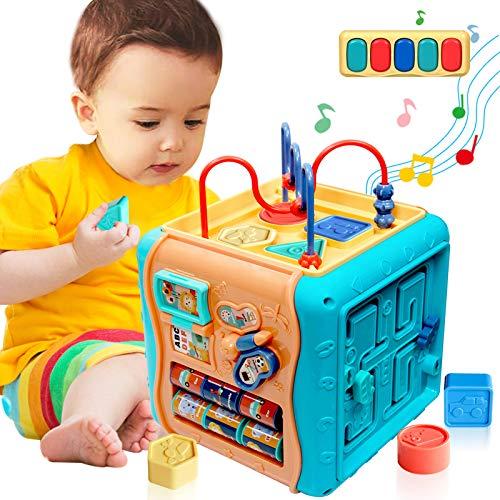 ATCRINICT 6 in 1 Mehrzweck Aktivitätswürfel Baby Spielzeug für 12-18 Monate Musikalisches...