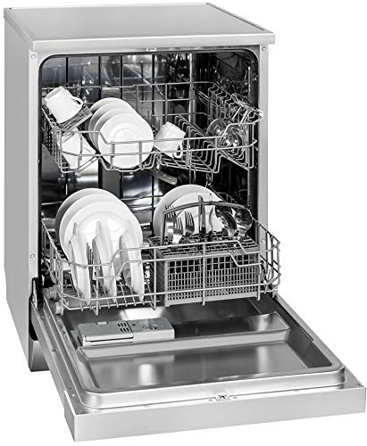 Exquisit Geschirrspüler GSP 9112.1 si   Standgerät, Unterbaugerät   12 Maßgedecke   Silber