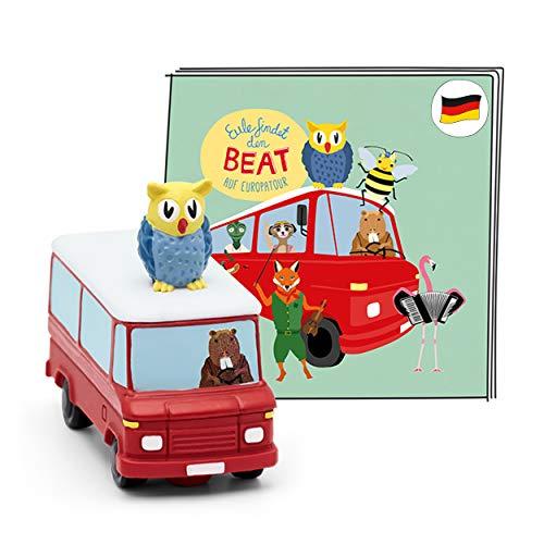 tonies Hörfigur für Toniebox, Eule findet den Beat – Auf Europatour, Kinderlieder und Hörspiel für...