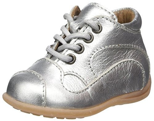 Bisgaard Baby-Mädchen Lauflernschuhe Sneaker, Silber (01 Silver), 18 EU
