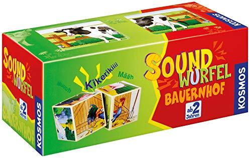 KOSMOS 697365 - Soundwürfel Bauernhof, Lernspielzeug mit Geräuschen, für Kinder ab 2 Jahre, Spielzeug für...