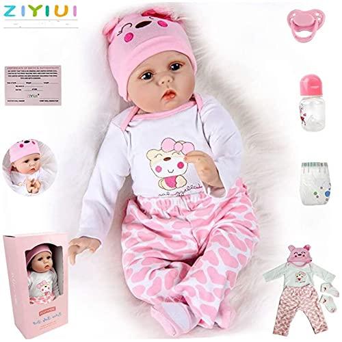 ZIYIUI 55cm 22Zoll Reborn Babypuppe wie Echtes Baby Weiche Silikon Vinyl echt Babypuppen Lebensechte Puppe...