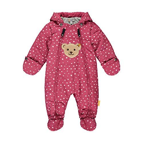 Steiff Baby-Unisex mit süßer Teddybärapplikation Schneeanzug, Malaga, 074