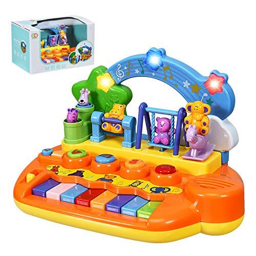 DREAMADE Musikspielzeug für Baby Kleinkinder, Babyspielzeuginkl. 5 Musik Instrumente, Klavier Keyboard mit...