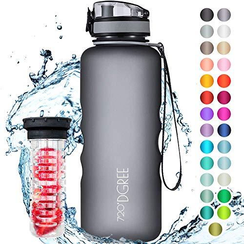 """720°DGREE Trinkflasche """"uberBottle"""" softTouch +Früchtebehälter - 1,5L - BPA-Frei - Wasserflasche für..."""