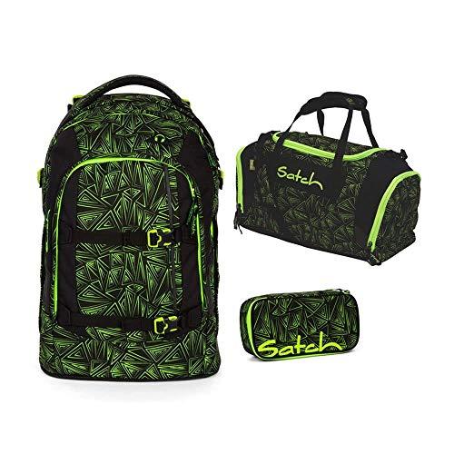 Satch Pack Green Bermuda 3er Set Schulrucksack, Sporttasche & Schlamperbox
