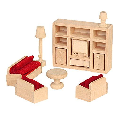 Beluga Spielwaren 70112 - Puppenhausmöbel 'Wohnzimmer', 11-teilig