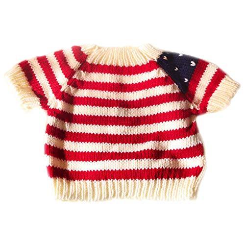 Yatoy love Strick Pullover für Plüschbär Bär Kleidung Spielanzug Tiere Puppe Shirt Kostüme - weiß mit...