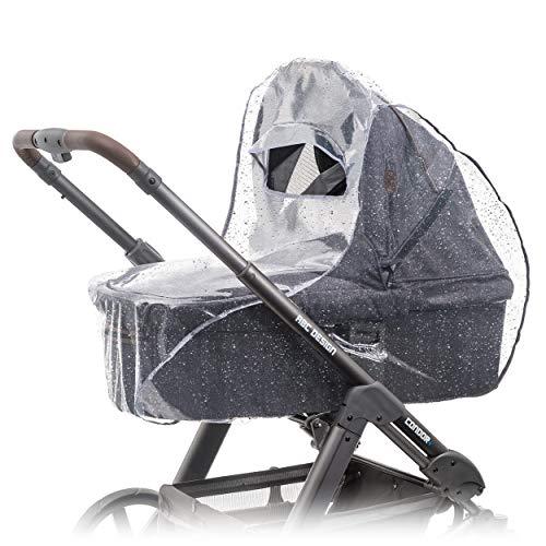 Zamboo Universal Komfort Regenschutz für Kinderwagen/Babywannen - gute Luftzirkulation, Sichtfenster mit...