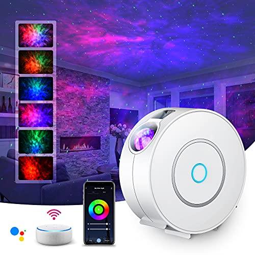 LED Alexa Sternenhimmel Projektor,SUPPOU Smart Nachtlicht 3D Galaxy Sternenprojektor Lampe Kinder Erwachsense...