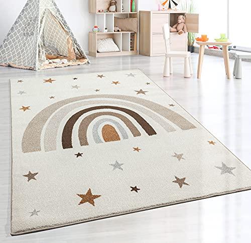 the carpet Beat Kids Moderner Weicher Kinderteppich, Weicher Flor, Pflegeleicht, Farbecht, Regenbogen Muster,...
