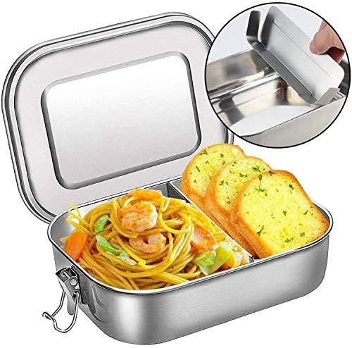 DeYoun Brotdose Edelstahl, Premium Lunchbox mit Flexibler Abtrennung | BPA- und Plastikfreie Bento Box für...