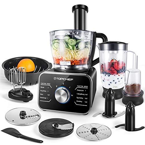 Küchenmaschine Multifunktions TOPCHEF, Standmixer, Mixer, Zerkleinerer, Entsafter, Zitruspresse, Multi Mixer...