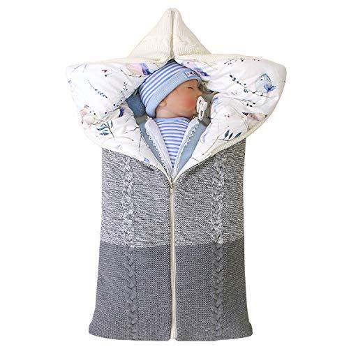 Petyoung neugeborenes Baby Wickeldecke Multifunktions-Kinderwagen Wrap Schlafmatte dicken warmen Schlafsack...