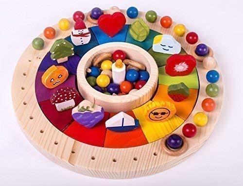 Waldorf Kalender Holzkreis, Jahreskreis Montessori, Jahreskalender mit Figuren, jahreskreisfest