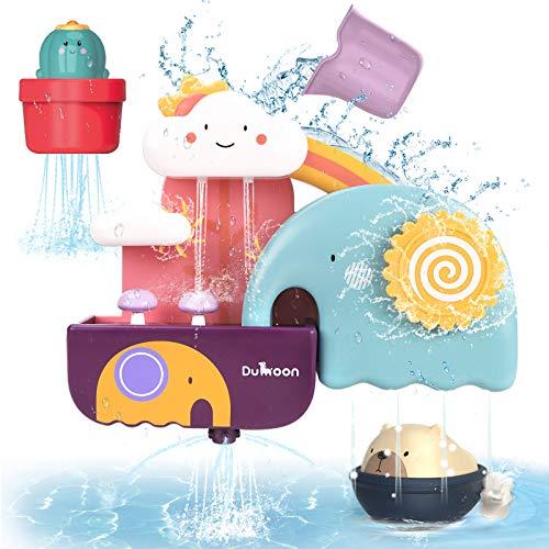 GILOBABY Kinder badespielzeug, Badewannenspielzeug mit Tasse, Bär und Kaktus Spielzeug,Wasserspielzeug...