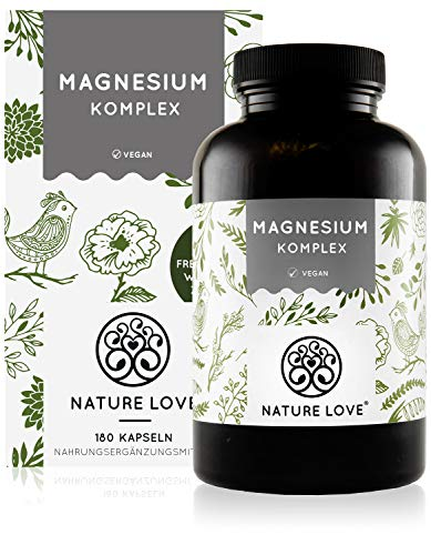 Magnesium Komplex - 400mg elementares Magnesium je Tagesdosis. Magnesiumcitrat, Magnesiumoxid,...