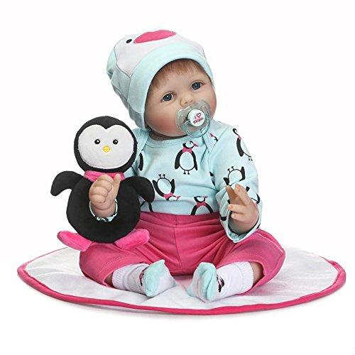 Minidiva Reborn Baby Puppe: lebensechte Puppe für Kinder ab 3 Jahre