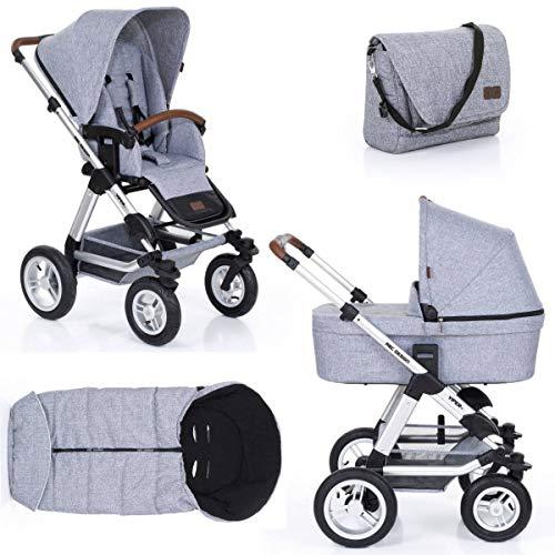 ABC Design Kinderwagen Viper 4 graphite grey 3 in 1 Set (inklusive Wickeltasche und Fußsack)