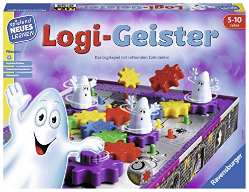 Ravensburger 25042 - Logi-Geister - Spielen und Lernen für Kinder, Lernspiel für Kinder von 5-10 Jahren,...