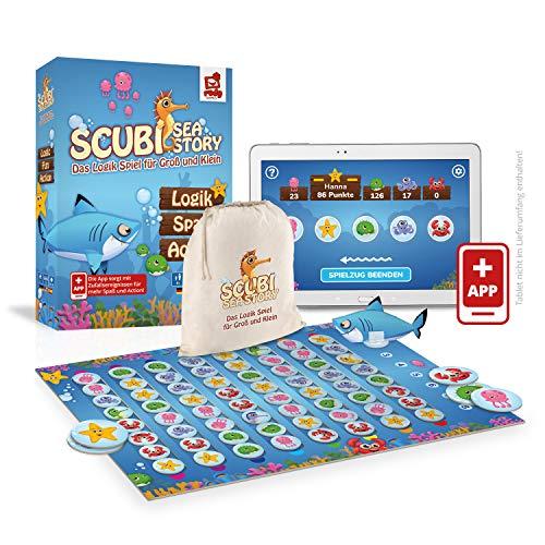 Rudy Games Scubi Sea Story – Interaktives Lernspiel mit App – Spannendes Logikspiel mit zahlreichen...