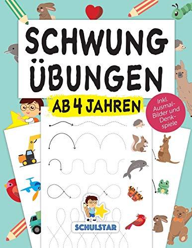 Schwungübungen ab 4 Jahren: Erste Schwünge, um Schreiben, Lesen & Zeichnen zu lernen. Großer A4...