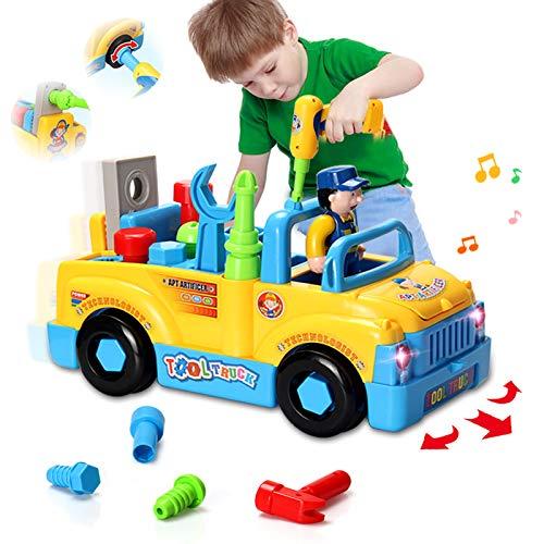 HOMOFY multifunktionale Konstruktion auseinander nehmen Spielzeug,Werkzeug Lastwagen für Kinder Spielzeug...