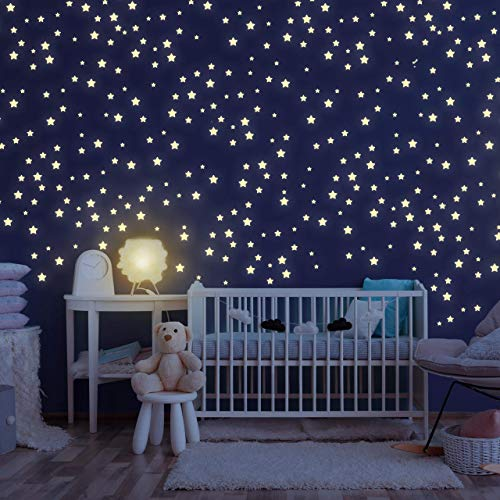 Homery Sternenhimmel 400 Leuchtsterne selbstklebend mit starker Leuchtkraft, fluoreszierende Leuchtsterne...