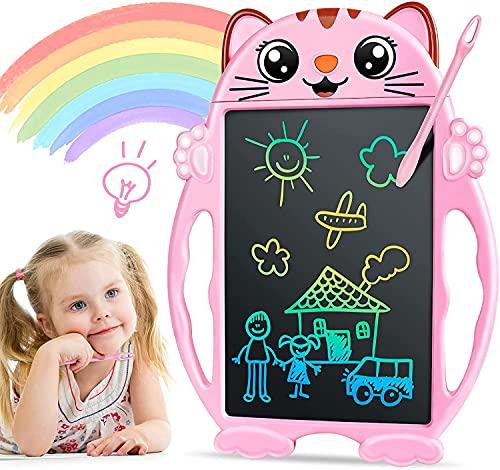 Mädchen Spielzeug LCD Schreibtafel - Geschenke für Mädchen Bunte Schreibtafel, Elektronisch 8.5 Zoll...