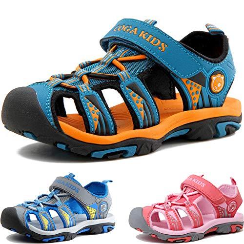 Sandalen Jungen Mädchen Geschlossene Sportliche Sandalette Kinder Atmungsaktiv Strandschuhe Outdoor...
