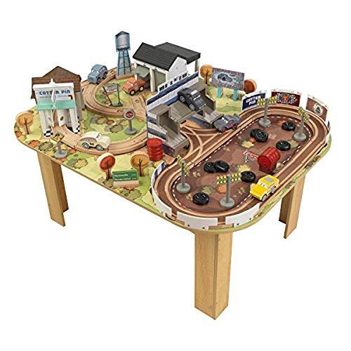 KidKraft 17209 Disney Pixar Cars 3 Autorennbahn & Spieltisch Thomasville aus Holz für Kinder mit 73...