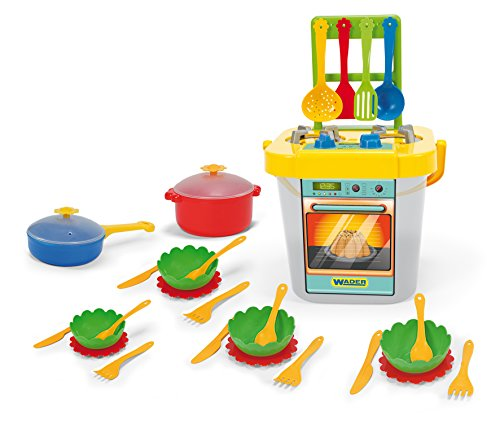Wader 24140 - Kinderküche, Gelb und grau