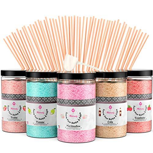 Misskandy, Zuckerwatte Zucker / Charge ( 5*300Gr)= 1,5kg/ Geschmacksrichtungen: Erdbeere, Apfel, Marshmallow,...