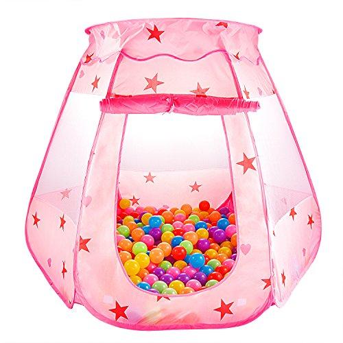 SKL Kinder Spielzelt Princess Pop Up Zelt Kinderspielzelt Bällebad Pop Up Spielzelt für Kinder Baby für...