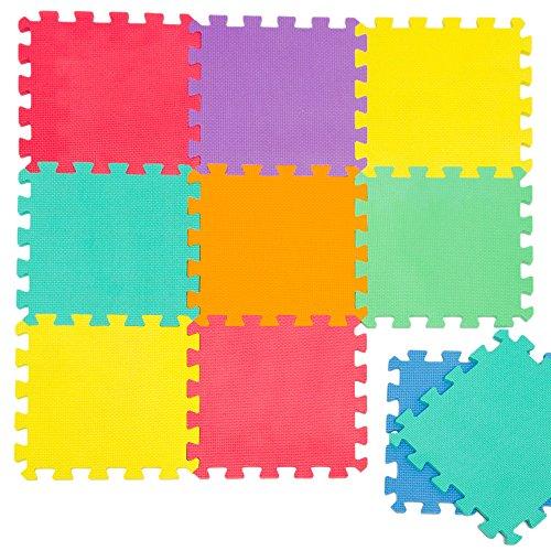 LittleTom Baby Puzzlematte Ab Null Kinder Spielmatte Eva Krabbelmatte Uni Farben