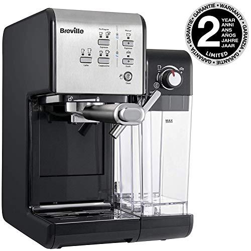Breville PrimaLatte II Kaffee- und Espressomaschine VFC108X-01, 19 bar, für Kaffeepulver oder Pads geeignet,...