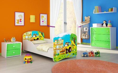 Clamaro 'Traumland' Motiv Kinderbett 80 x 160 cm inkl. Matratze und Lattenrost, Kantenschutzleisten und...