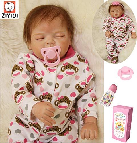 ZIYIUI Sleeping Baby 55 cm 22 Zoll Weiche Silikon Vinyl Handgemachte Realistische Real Life Baby Mädchen...