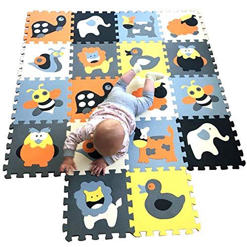MQIAOHAM baby matte spielmatte puzzelteppich teppich puzzlematte tiere krabbelmatte schaumstoffmatte schaum...