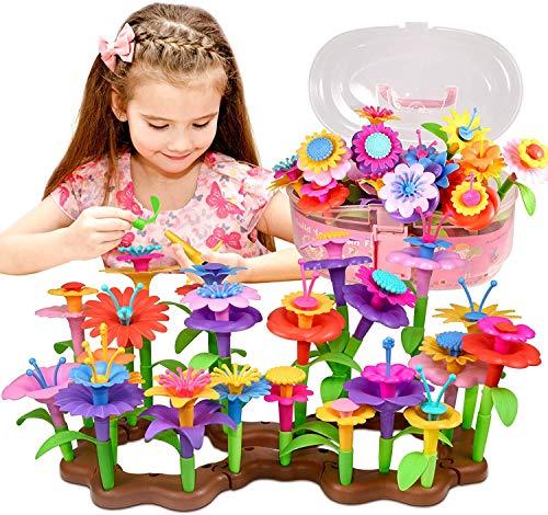 Sonomo Blumengarten Spielzeug für 3-6 Jährige Mädchen, DIY Bouquet Sets mit Aufbewahrungskiste, Kunst...