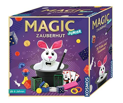 KOSMOS 680282 - Magic Zauberhut, Lerne einfach 35 Zaubertricks und Illusionen, Zauberkasten mit Zauberstab und...