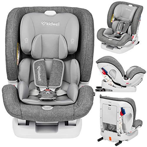 KIDWELL Autositz 0-36 kg | 0-12 Jahren | Gruppe 0+ / 1/2 / 3 | Kindersitz mit 5-Punkt-Gurtsystem & Isofix ECE...